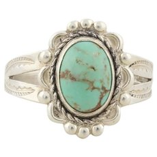 Sterling Silver Turquoise Ring Size 8