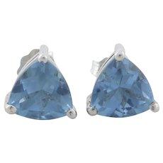 Sterling Silver Purple Blue Color Change Cz Earrings Stud Post Earrings