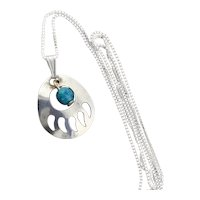 Sterling Silver Dainty Bear Paw Necklace 18 inch chain