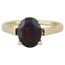 Natural Garnet Ring 10k Yellow Gold Ring Size 5 1/4