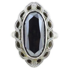Sterling Silver Hematite Ring Clark and Coombs Size 5