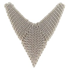 Sterling Silver Chain Mail Necklace 16 1/2 inch