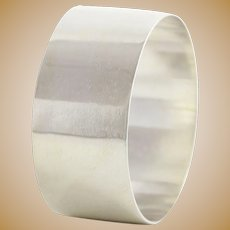 Wallace Sterling Silver Plain Napkin Ring Engravable Customizable