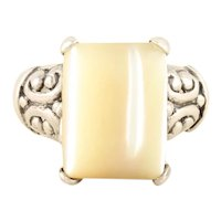 Sterling Silver Mother of Pearl Ring Size 6 1/4