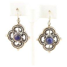 Lapis Lazuli Sterling Silver Dangle Drop Earrings