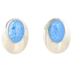 Lapis Lazuli Sterling Silver Stud Post Earrings