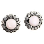 Sterling Silver Rose Quartz Stud Post Earrings
