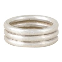 Sterling Silver Triple Stack Band Ring Size 6 1/4