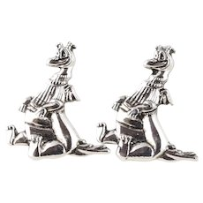 Sterling Silver Figment Dragon Dream Finder Stud Post Earrings Disney Sterling