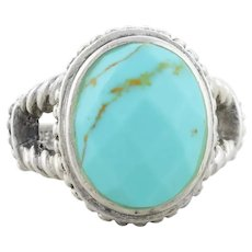 Sterling Silver Turquoise Ring Size 7 1/4