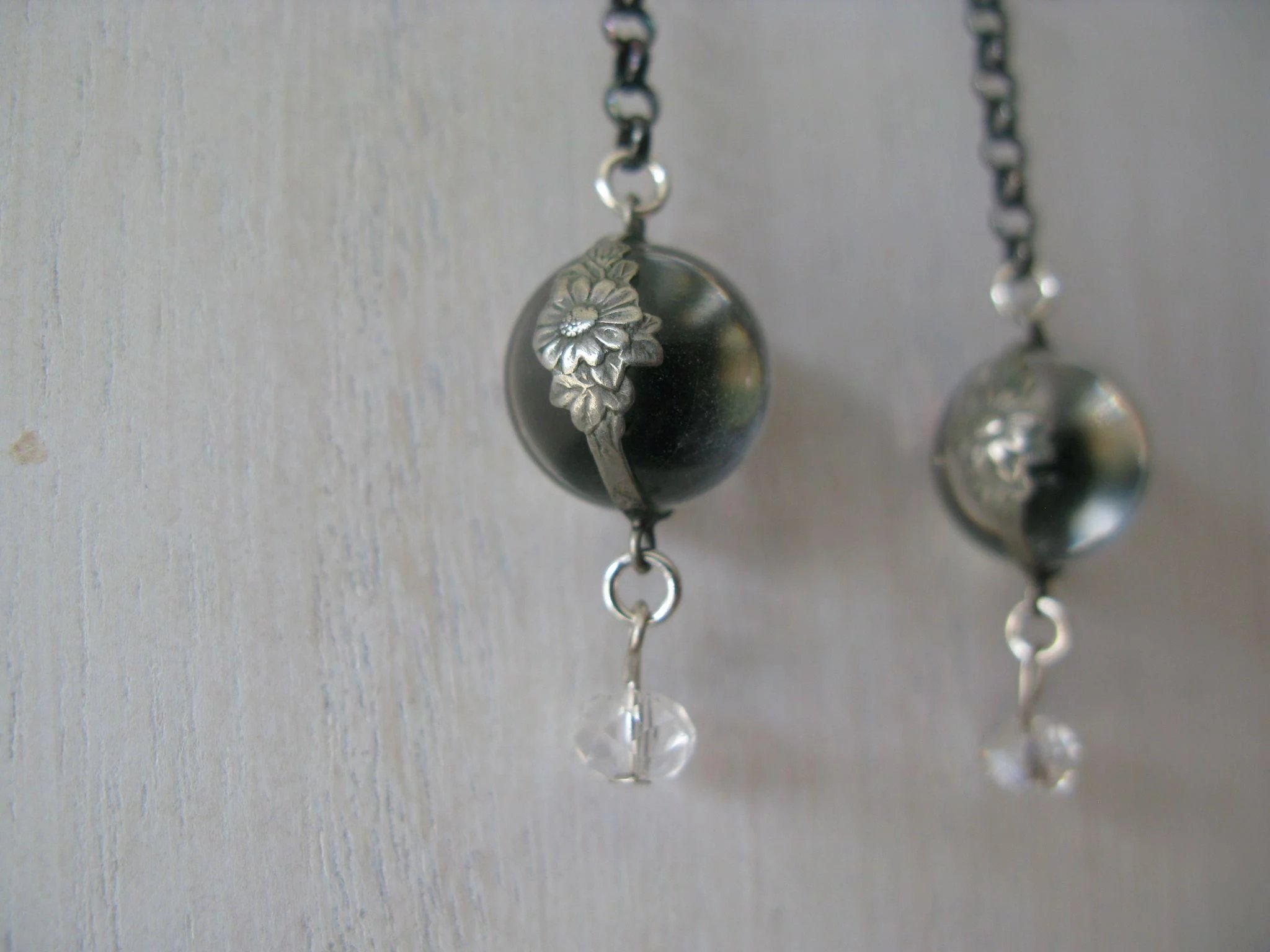 dandelion raiq charm crystal clover clear cylinder il necklace silver fullxfull and wish with fluff pendant long listing