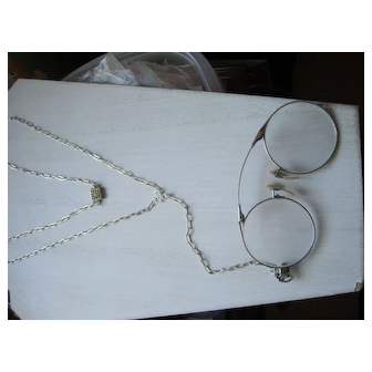 Sterling Lorgnette Chain and 12 KGF Oxford Lorgnette
