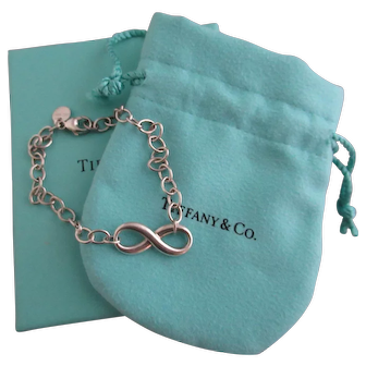 Vintage Tiffany & Co. Sterling Silver Infinity Love Bracelet