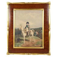 Signed Hand Colored Print Napoleon by Messonier, dated 1863