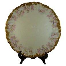 T & V Limoges Serving Platter, Pink Dogwood Pattern, circa 1900