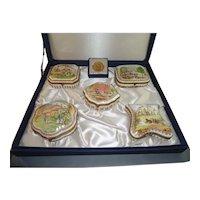Set 5 Ltd Edition Fine Porcelain Boxes by National Trust