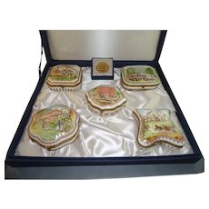 Set 5 Ltd Edition Fine Porcelain Boxes by National Trust