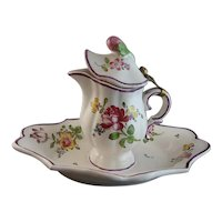 19th Century Strasbourg French Faience Pitcher