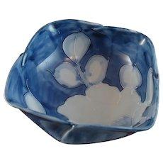 Gorgeous Japanese Porcelain Signed Arita Blue and White Bowl