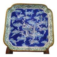 Gorgeous  19th Century Chinese Cloisonne Dragon Bowl