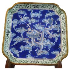 Gorgeous  19th Century Chinese Cloisonne Dragon Bowl