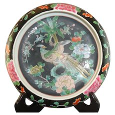 Pretty 19th Century Chinese Famille Noire Bowl