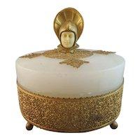 Beautiful Onyx Gilt Bronze Art Deco Dresser Box