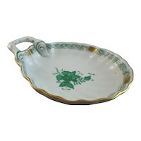 Herend Chinese Bouquet Green Shell Dish