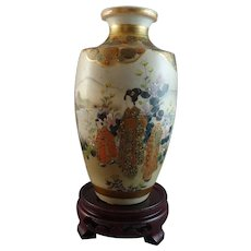 Beautiful Satsuma Vase Signed Kinkozan