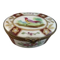 Pretty Limoges Hand Painted Porcelain Box