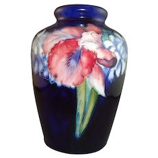 Beautiful W. Moorcroft Orchids and Spring Flowers Vase, circa 1930