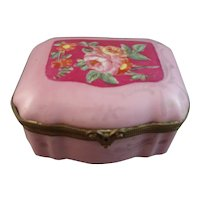 Pretty French Porcelain Dresser Box with Sevres Mark for 1771