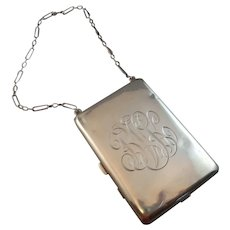Sterling Silver Chatelaine Compact and Purse Dated 1913