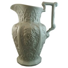 "19th Century William Ridgway Relief Molded Jug - ""Harvest"""