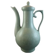 Antique 19th Century Chinese Celadon Teapot