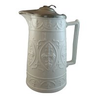 Relief Molded English Tankard with Brittania Lid