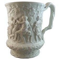 Charles Meigh Bacchanalian Dance Relief Molded Mug, 1844