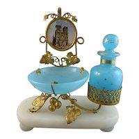 Pretty Antique Palais Royal Blue Opaline Perfume Scent Set