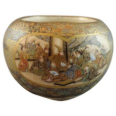 Stunning Meiji Satsuma Bowl signed Kinkozan