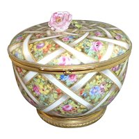 Fabulous Sevres Hannong  18th Century Hard Paste Porcelain & Ormolu Box