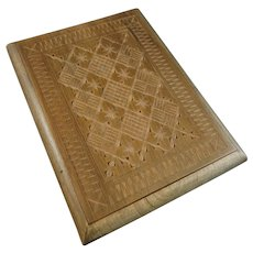 Vintage Cigarette Case with Delicately Carved Cover