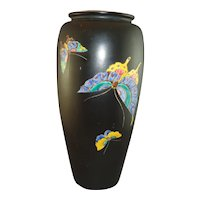 Japanese Signed Meiji Period Butterfly Vase