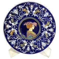 Antique Italian Faience Majolica Plate