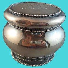 Pretty Gorham Sterling Beaded Dresser Jar with 1899 Hallmark