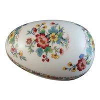 "Coalport Bone China ""Ming Rose"" Egg-Shaped Dresser Jar"