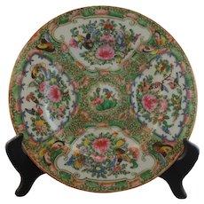 19th Century Famille Rose Medallion Plate