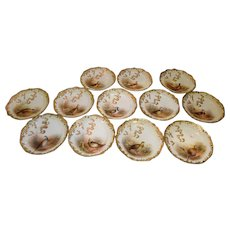 Set of 12 George Jones 19th Century Gilt Reticulated Game Plates