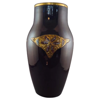 Mougin Nancy Art Deco Vase, circa 1910
