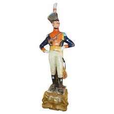 Vintage Capodimonte Porcelain Napoleonic Military Figure by Bruno Merli