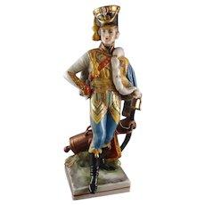 Royal Vienna Porcelain Military Figure